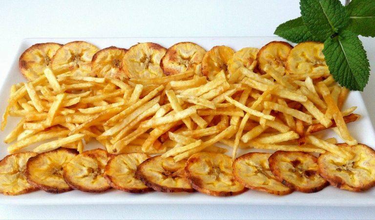 Recepta de Cuina, Com es fa – Xips saludables de patates i plàtan
