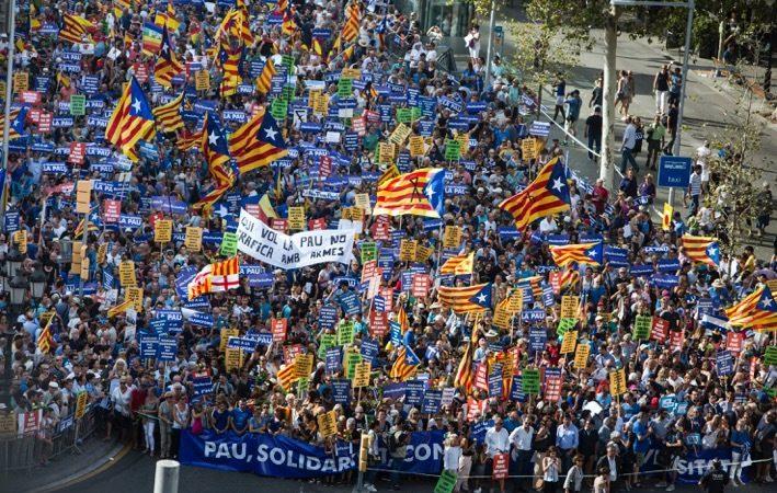 Comença la Manifestació a Barcelona #NoTincPor #NoTengoMiedo #IAmNotAfraid