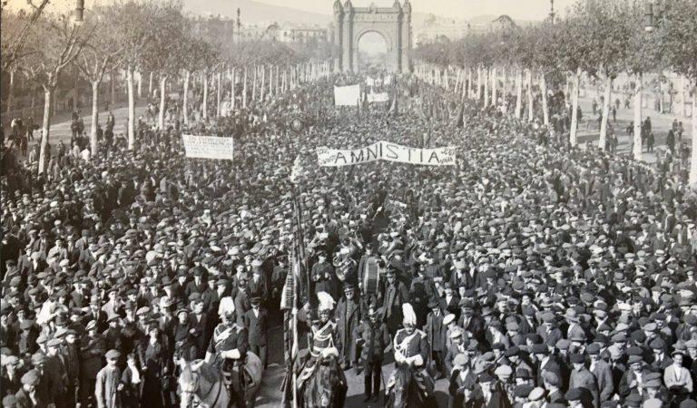 Barcelona abans – Passeig de Lluís Companys fa 100 anys Manifestació Llibertat de Presos Polítics