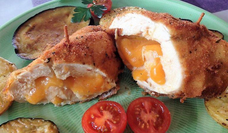 Recepta de Cuina, Com es fa – Pit de pollastre farcit de formatge Cheddar