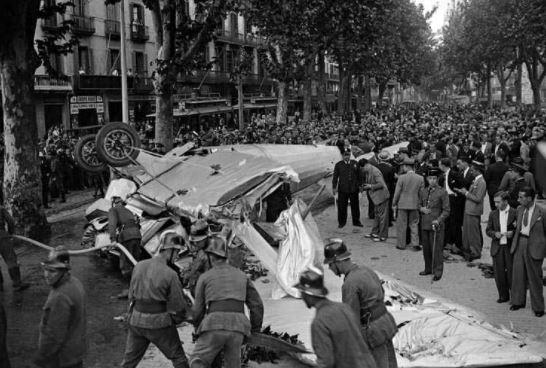 Barcelona abans – Aterratge d'emergència a les Rambles – any 1934