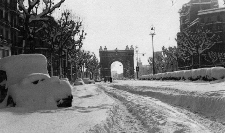 La gran nevada a Barcelona el dia de Nadal de 1962