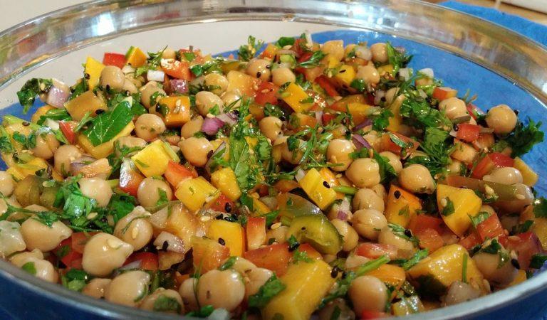 Recepta de Cuina, Com es fa – Amanida de cigrons amb fruites i verdures