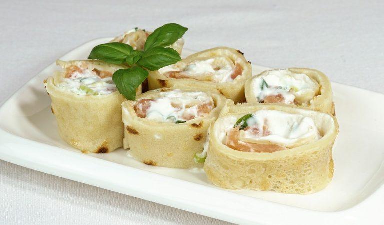 Recepta de Cuina, Com es fa – Creps de salmó, crema de formatge i iogurt