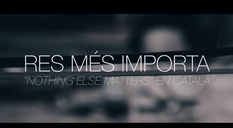 Lletra i Videoclip de la cançó del grup Metallica – Nothing Else Matters en Català per filferro