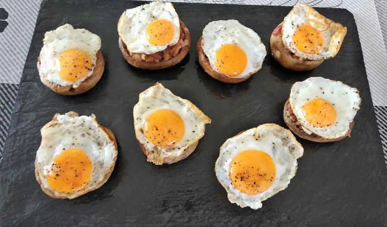 Recepta de Cuina, Com es fa – Xampinyons farcits d'ous ambbacon