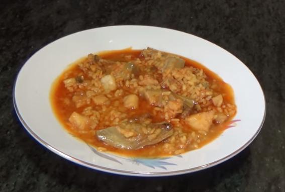 Recepta de Cuina, Com es fa – Arròs amb bacallà i carxofes