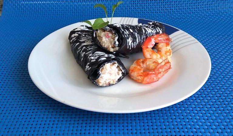 Recepta de Cuina, Com es fa – Creps negres de peix i marisc