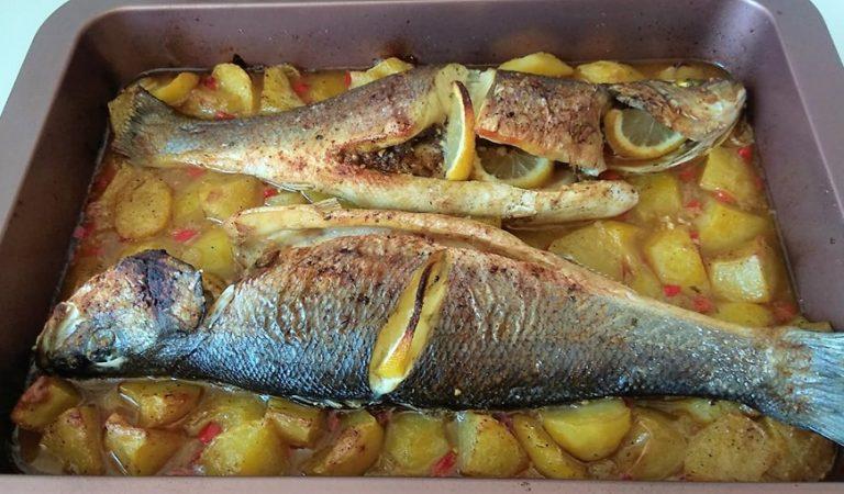Recepta de Cuina, Com es fa – Llobarro al forn amb patates