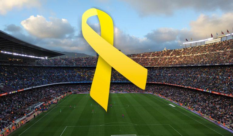 La Plataforma perquè el Barça utilitzi el llaç groc en la seva imatge corporativa, necessita 150 signatures abans del dia 1.