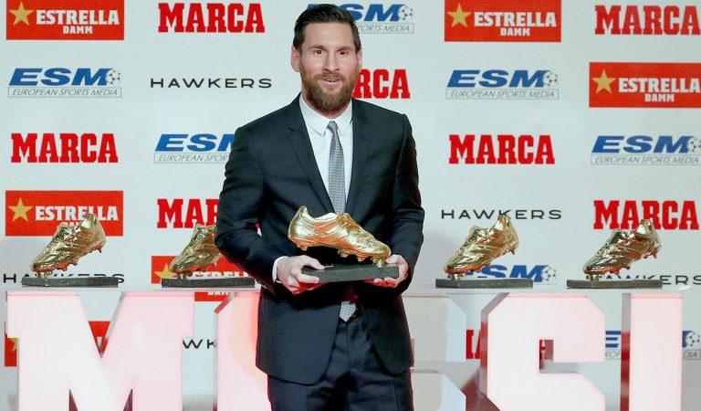 Leo Messi rebrà la sisena Bota d'Or el dimecres 16 d'octubre a l'antiga Fàbrica d'Estrella Damm.