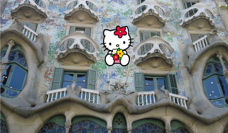 HelloKittycompleix 45 anys i ho vol celebrar amb la Casa Batlló.