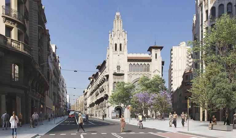 Com serà la nova Via Laietana de Barcelona d'aquí a tres anys?