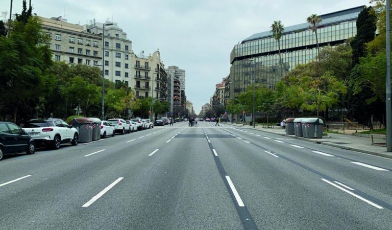 Un nou carril bici al carrer d'Aragó travessarà la ciutat de Barcelona.