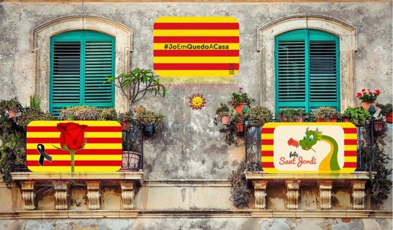 Celebrem Sant Jordi guarnint els nostres balcons i recordant els que ens han deixat #BalcoSantJordi