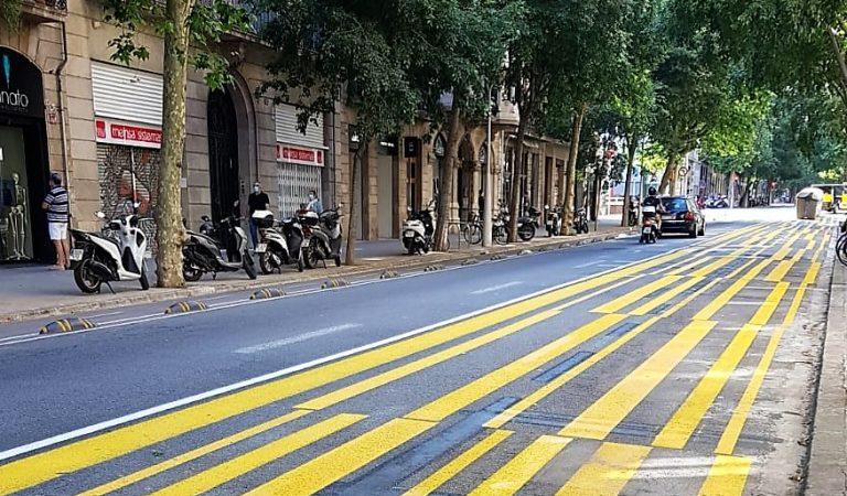 La nova imatge del carrer Consell de Cent de Barcelona