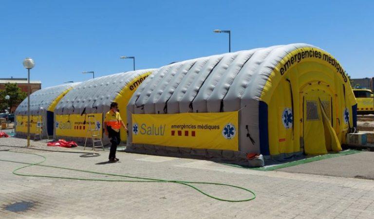 Davant el rebrot del Coronavirus el SEM munta un hospital de Campanya a Lleida.