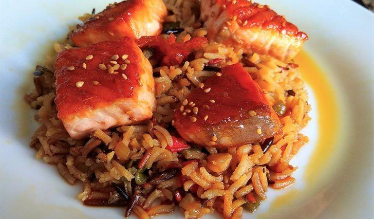 Recepta de Cuina, Com es fa – Arròs amb salmó marinat