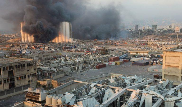 Així ha quedat la delegació de TV3 i Catalunya Ràdio a Beirut després de l'explosió d'ahir.