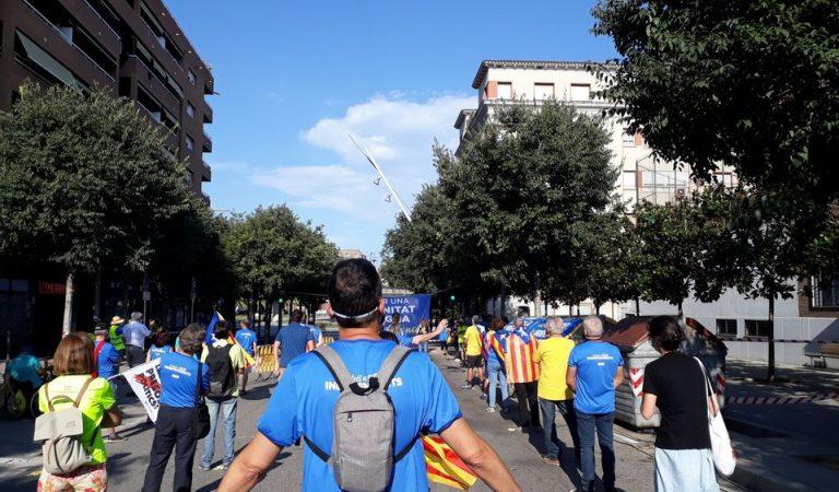 Recull d'imatges de la Diada Nacional de Catalunya marcada per la distància a causa de la pandèmia.