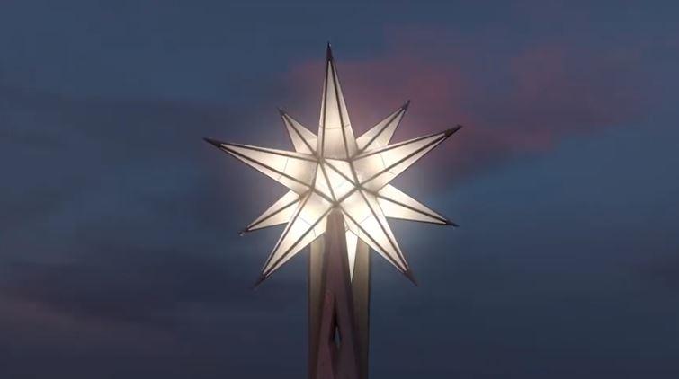 Un pas més en la construcció de la Sagrada Família, col·locat l'armat per l'estel que coronarà la Torre de la Mare de Déu.