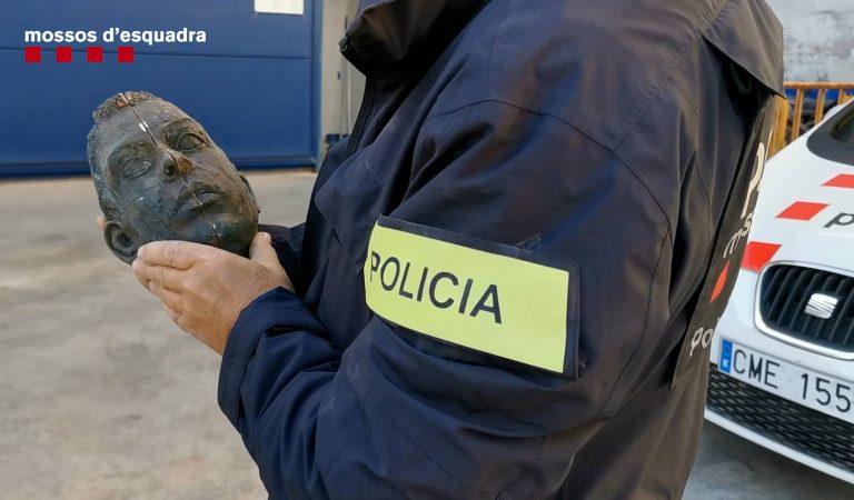 Els Mossos detenen a un home pel robatori d'una escultura commemorativa de les Olimpíades del 92