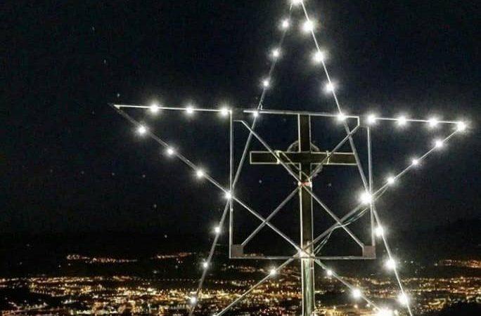 Roben les llums de Nadal que il·luminaven la Creu de Gurb amb generador inclòs