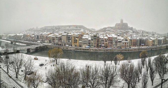La Filomena tenyeix de blanc gran part de Catalunya