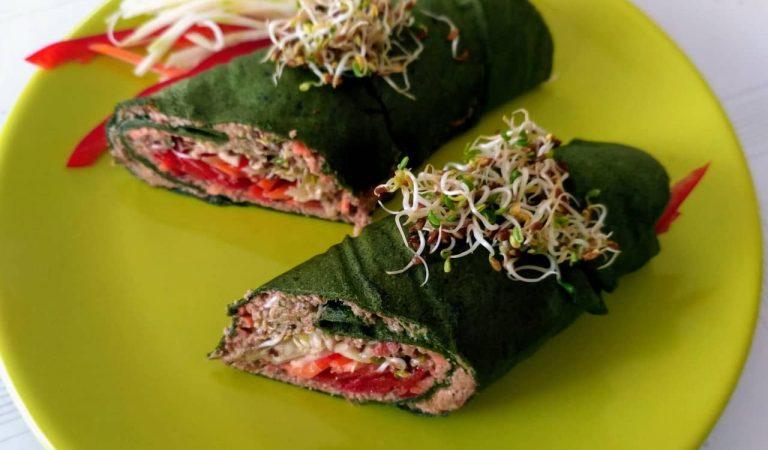 Recepta de Cuina, Com es fa – Creps d'espinacs farcits de verdures i tonyina