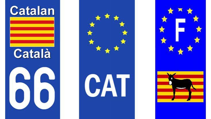 França prohibeix el CAT i la senyera a les matrícules franceses que sovint es veien a laCatalunya Nord
