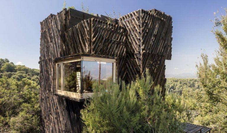 Alumnes d'arquitectura del campus ValldauraLabscreen una cabana per auto-confinar-se a Collserola