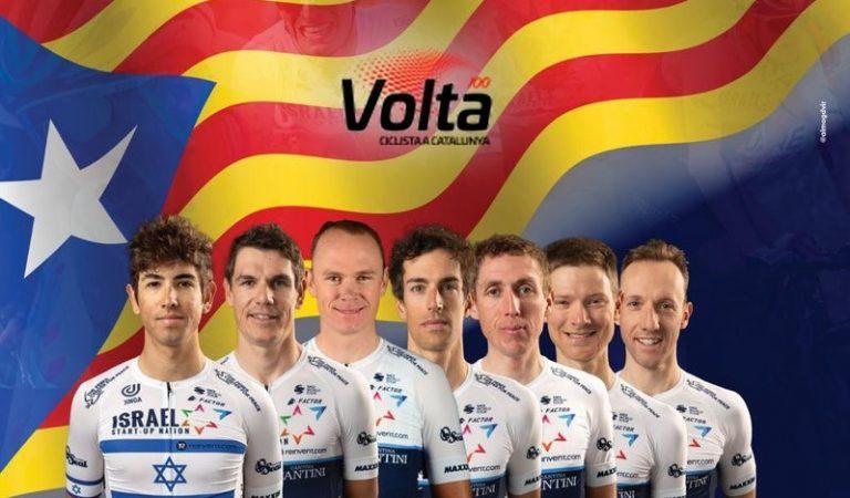 La 100 edició de la Volta Ciclista a Catalunya comença amb polèmica per culpa d'una estelada