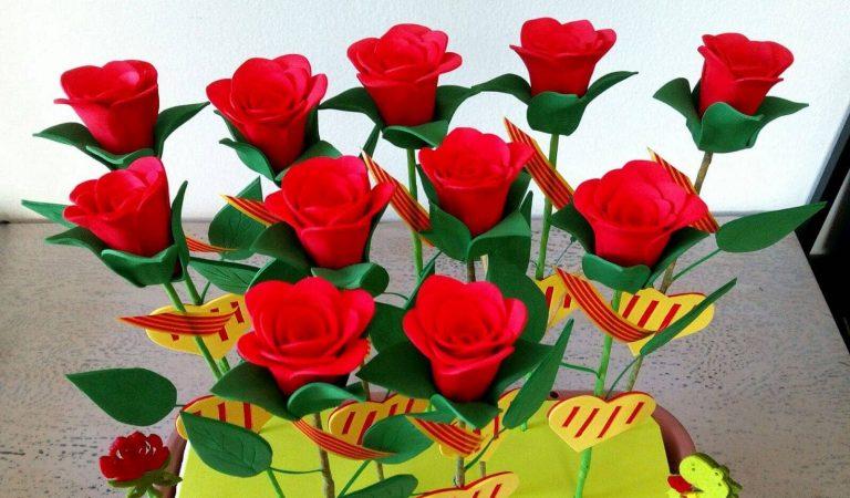 Roses solidàries per Sant Jordi a la Vall d'Hebron