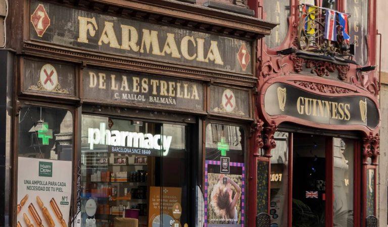 Un altre emblemàtic local de Barcelona tanca després de181anys, la Farmàcia de l'Estrella