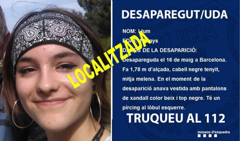 Localitzada sana i estalvia, la noia desapareguda diumenge