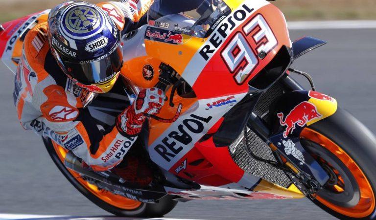 Impressionant accident de Marc Márquez en el circuit de Jerez, el mateix on es va lesionar el braç