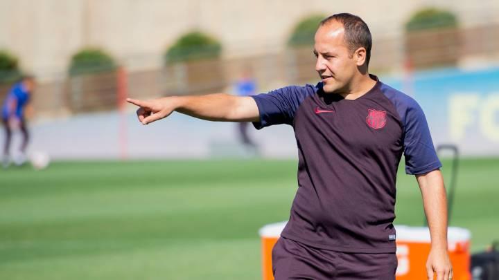 Lluís Cortés entrenador de l'equip de futbol femení deixa el Barça