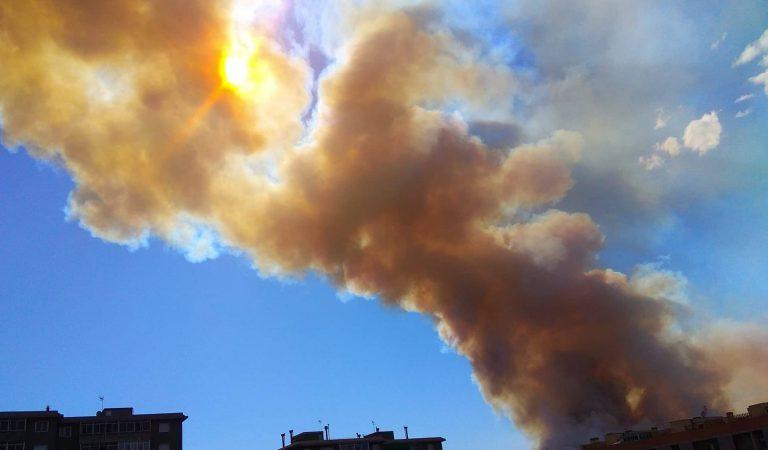 L'incendi de Castellví de Rosanes podria ser a causa d'una negligència