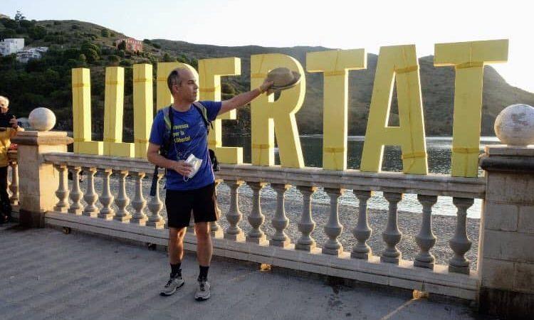 Jordi Turull inicia la travessa de Catalunya de nord a sud, la Travessa per la Llibertat