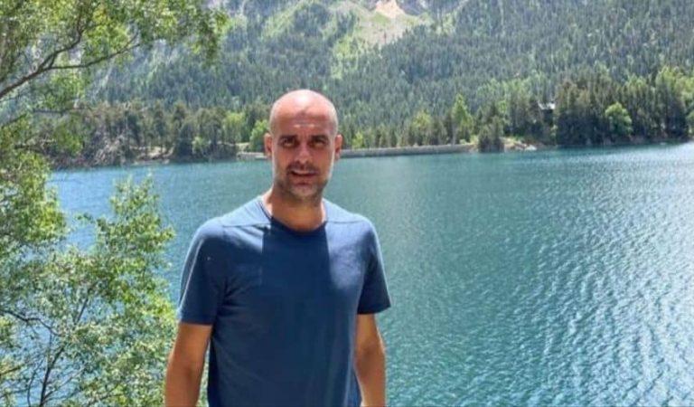 Pep Guardiola que està de vacances a Catalunya, carrega contraTebas, el president de la Lliga espanyola.