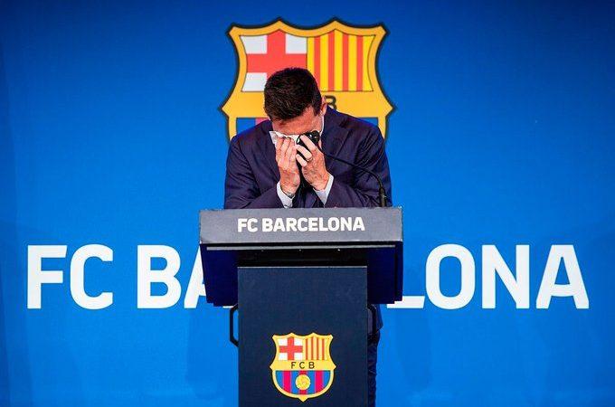 Posen a la venda el mocador amb les llàgrimes de Messi per un milió de dòlars