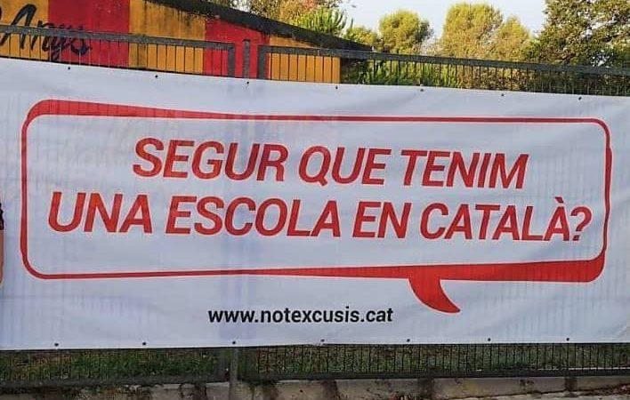 El català en perill d'extinció? Només el 14% dels alumnes de secundària parlen català al pati.