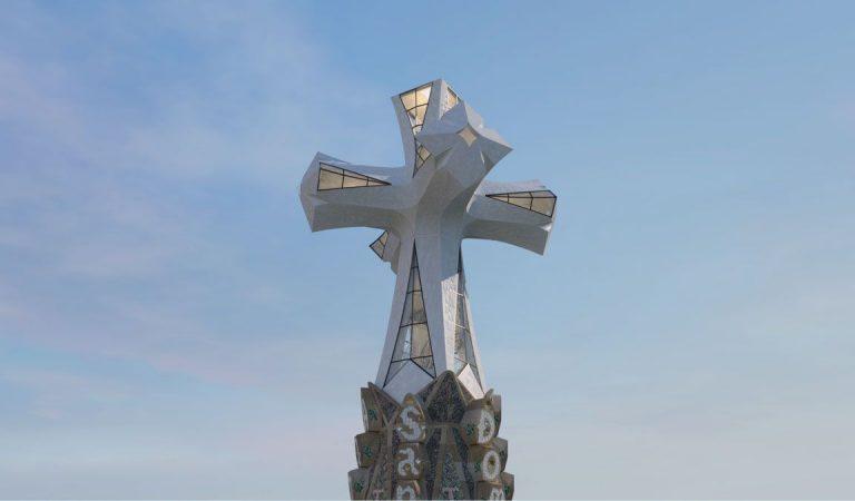 Així serà la Torre de Jesucrist de la Sagrada Família, que convertirà el temple en l'edifici més alt de Barcelona i de Catalunya.